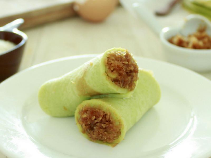 班蘭椰絲卷 ~ 南洋風味的班戟