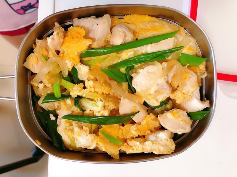 親子丼(低卡雞胸肉版)