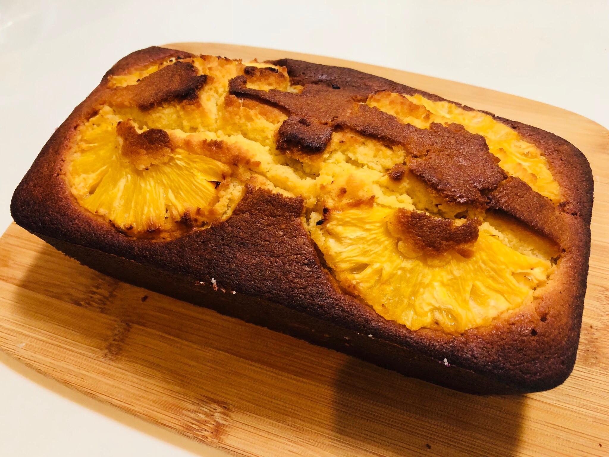 不來嗯的焦糖鳳梨長條蛋糕