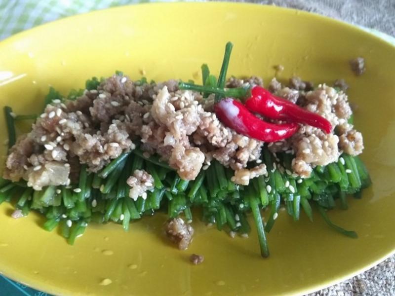 十分鐘上菜─速拌肉燥水蓮菜