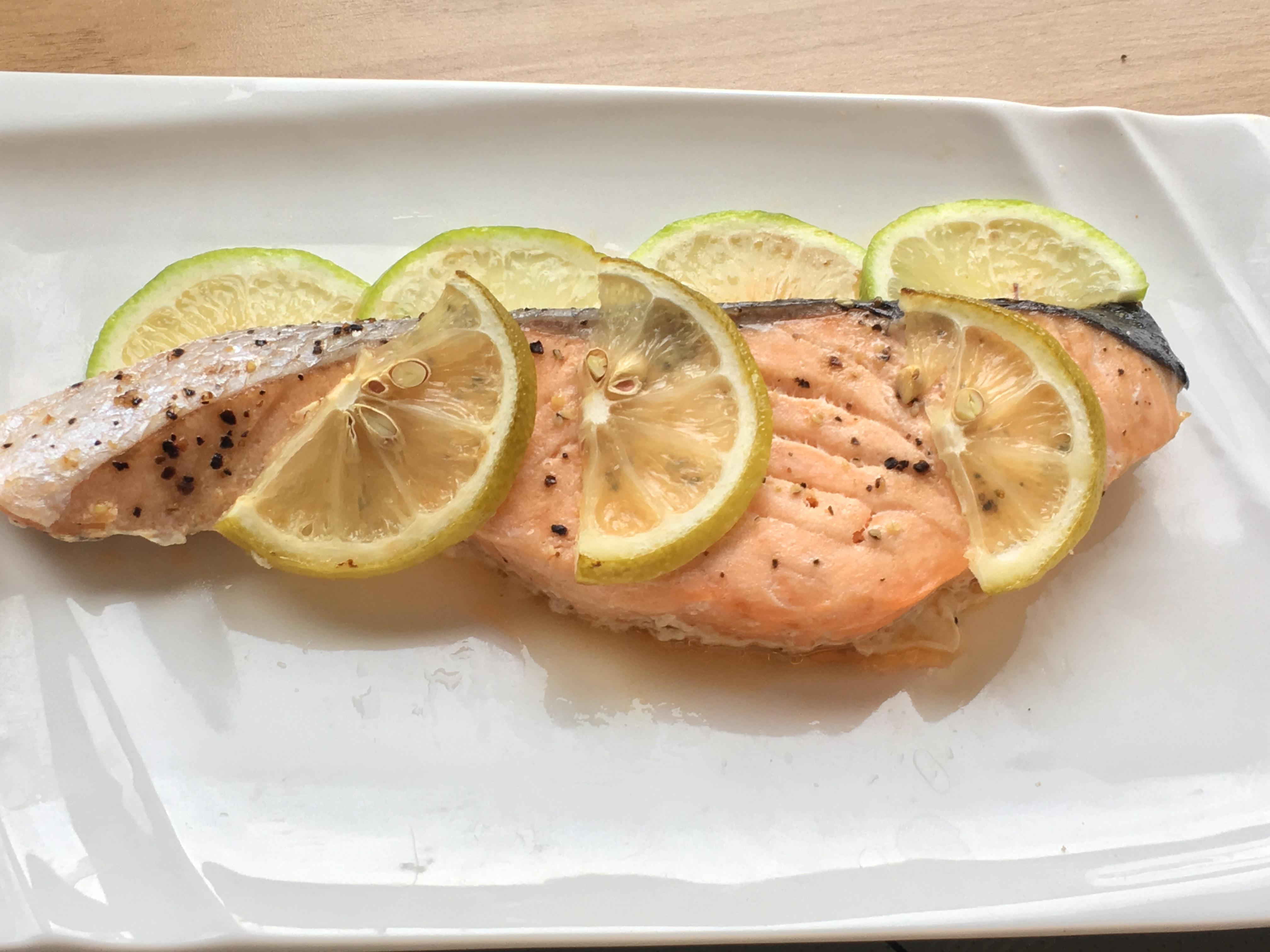 蒸煮.奶油檸檬鮭魚 / 水波爐