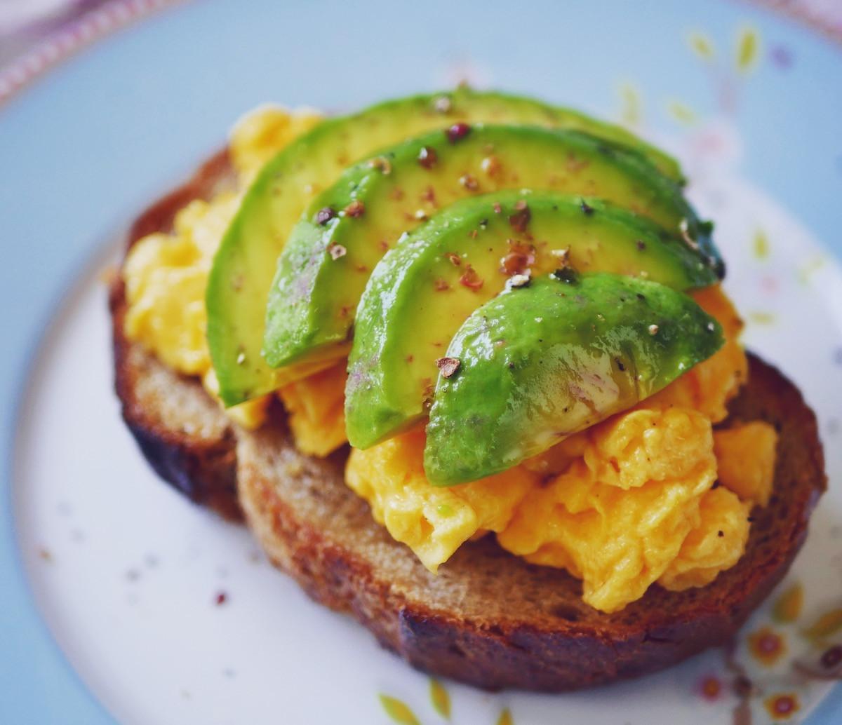 [早餐]酪梨炒蛋三明治, 10分鐘搞定