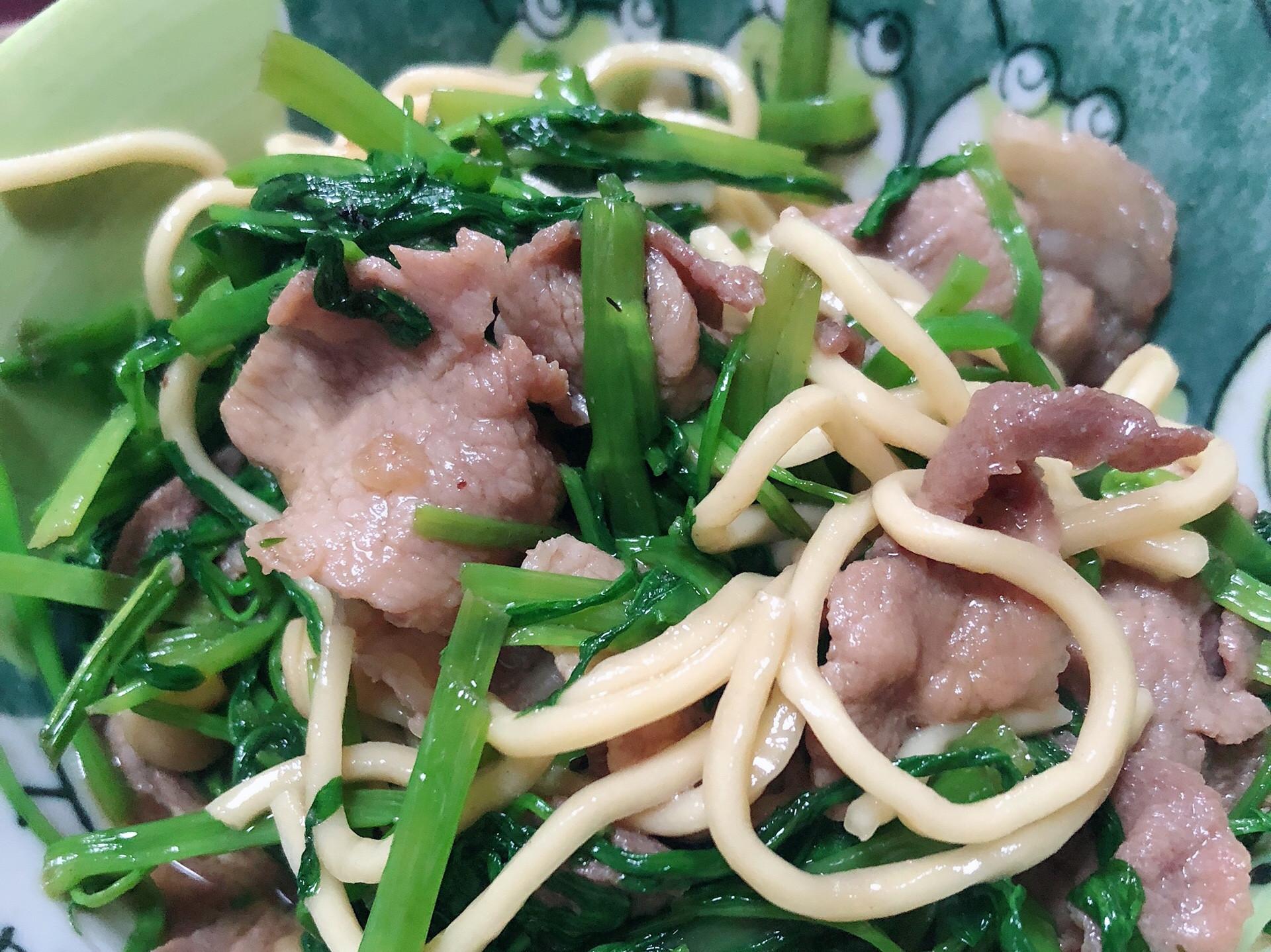 超下飯&麵之豬肉炒空心菜