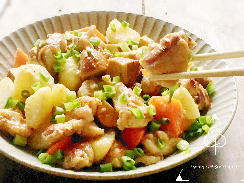 腐乳豆干炒嫩雞(附腐乳醬作法)