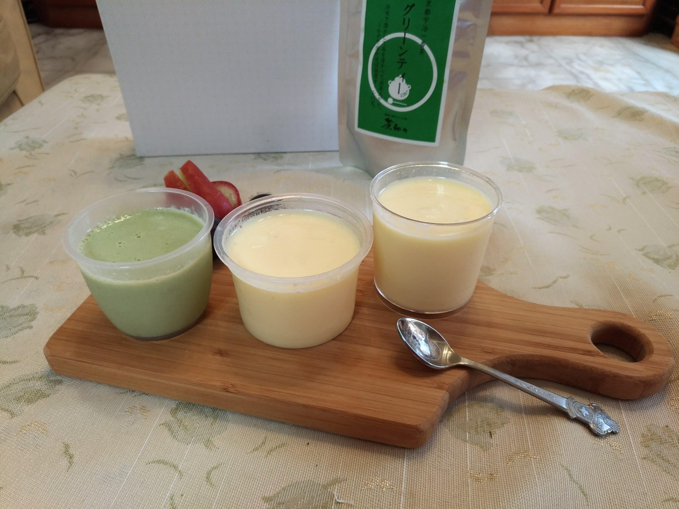 抹茶+原味雞蛋布丁