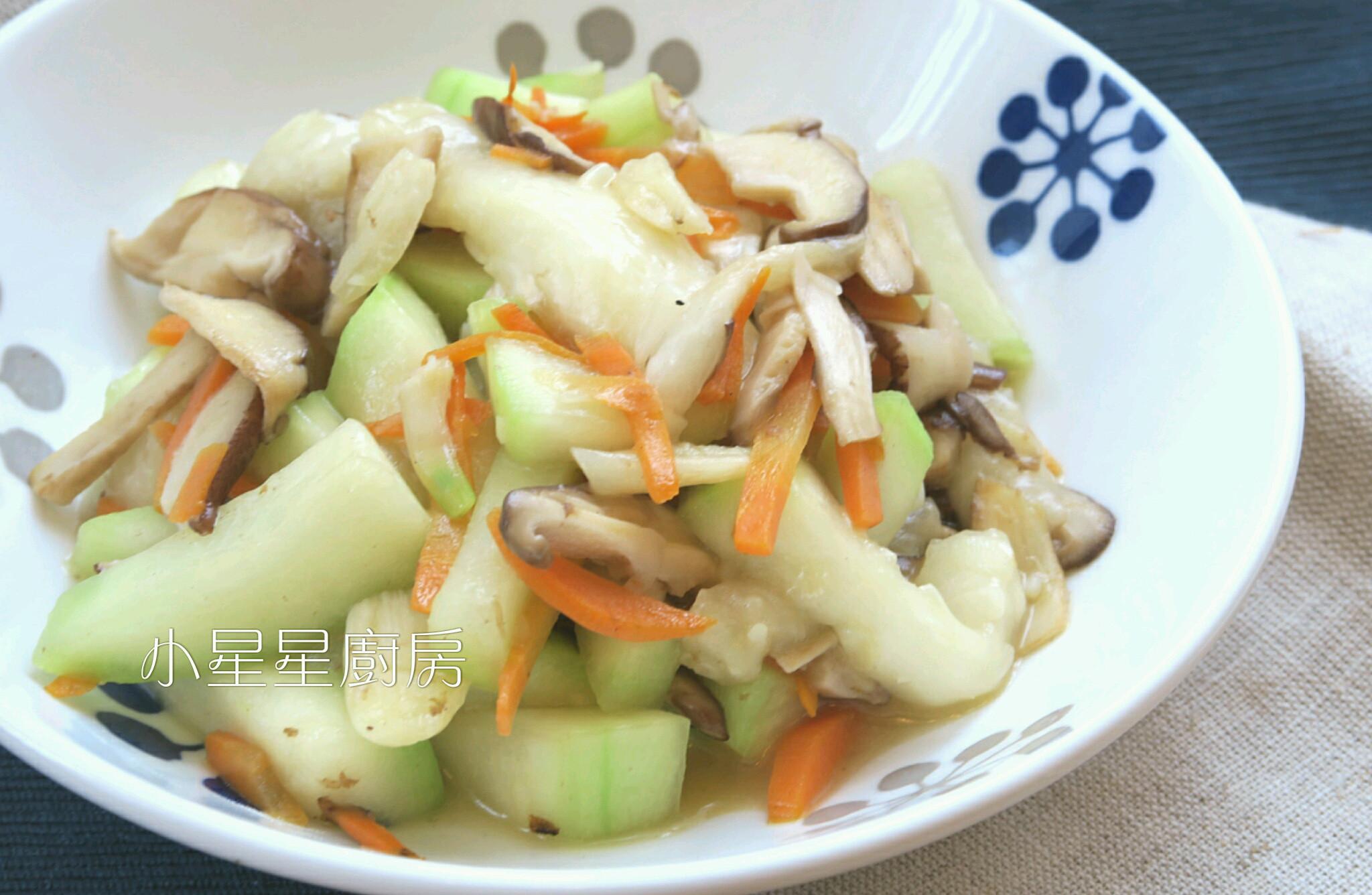 鮮菇炒蒲瓜