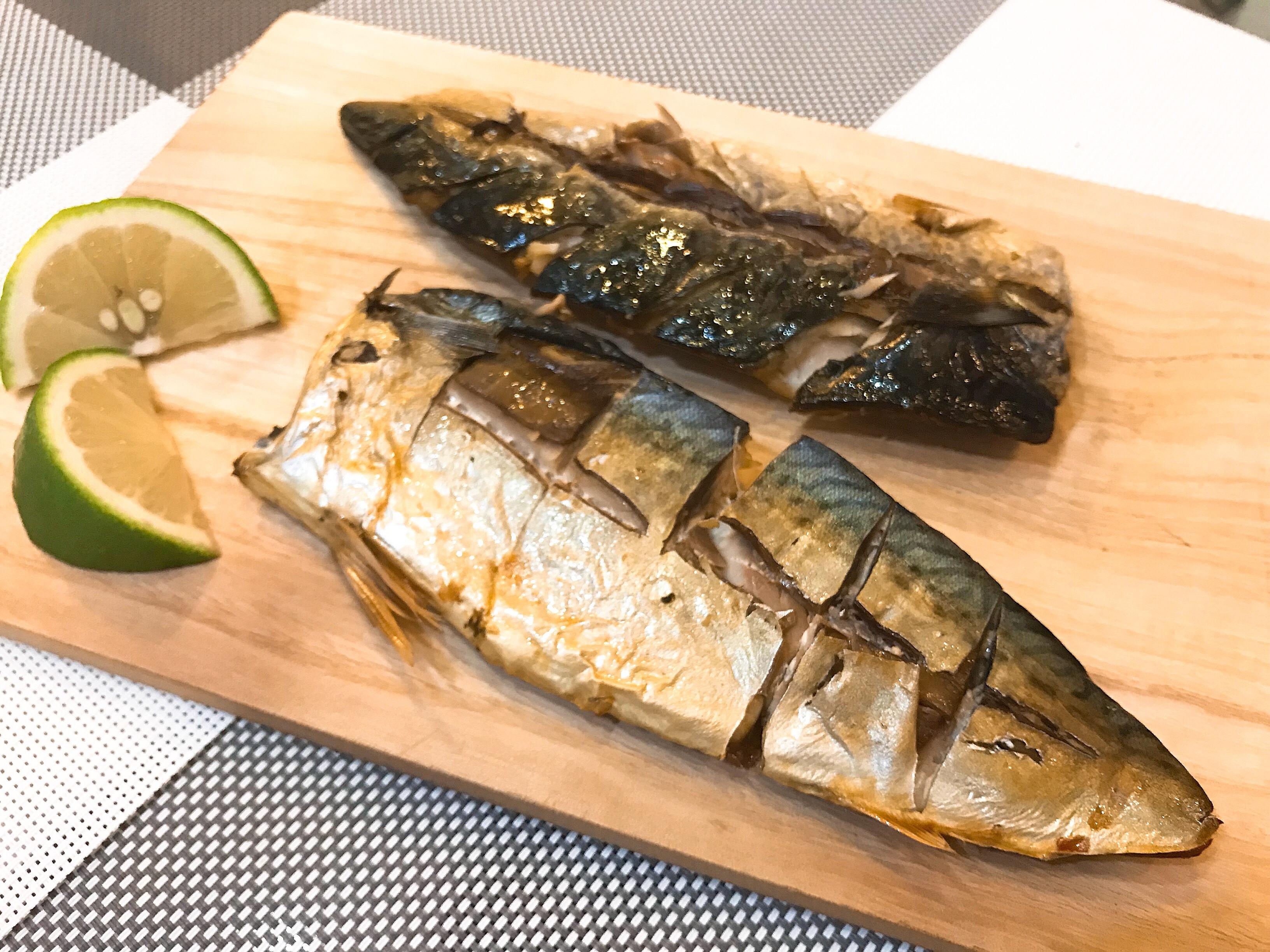 鹽烤鯖魚(懶人烤箱料理)