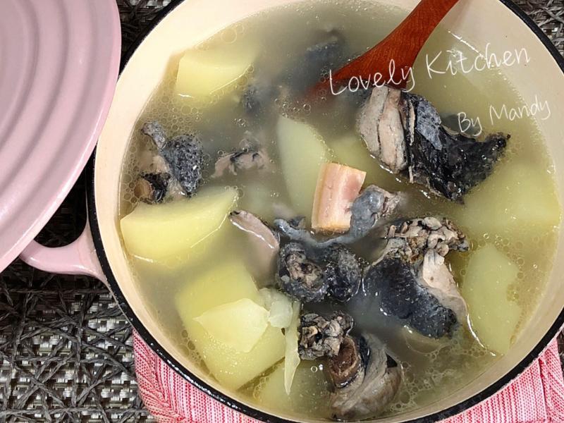 火腿青木瓜乌骨鸡汤