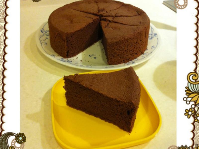 小朋友的最愛-巧克力戚風蛋糕