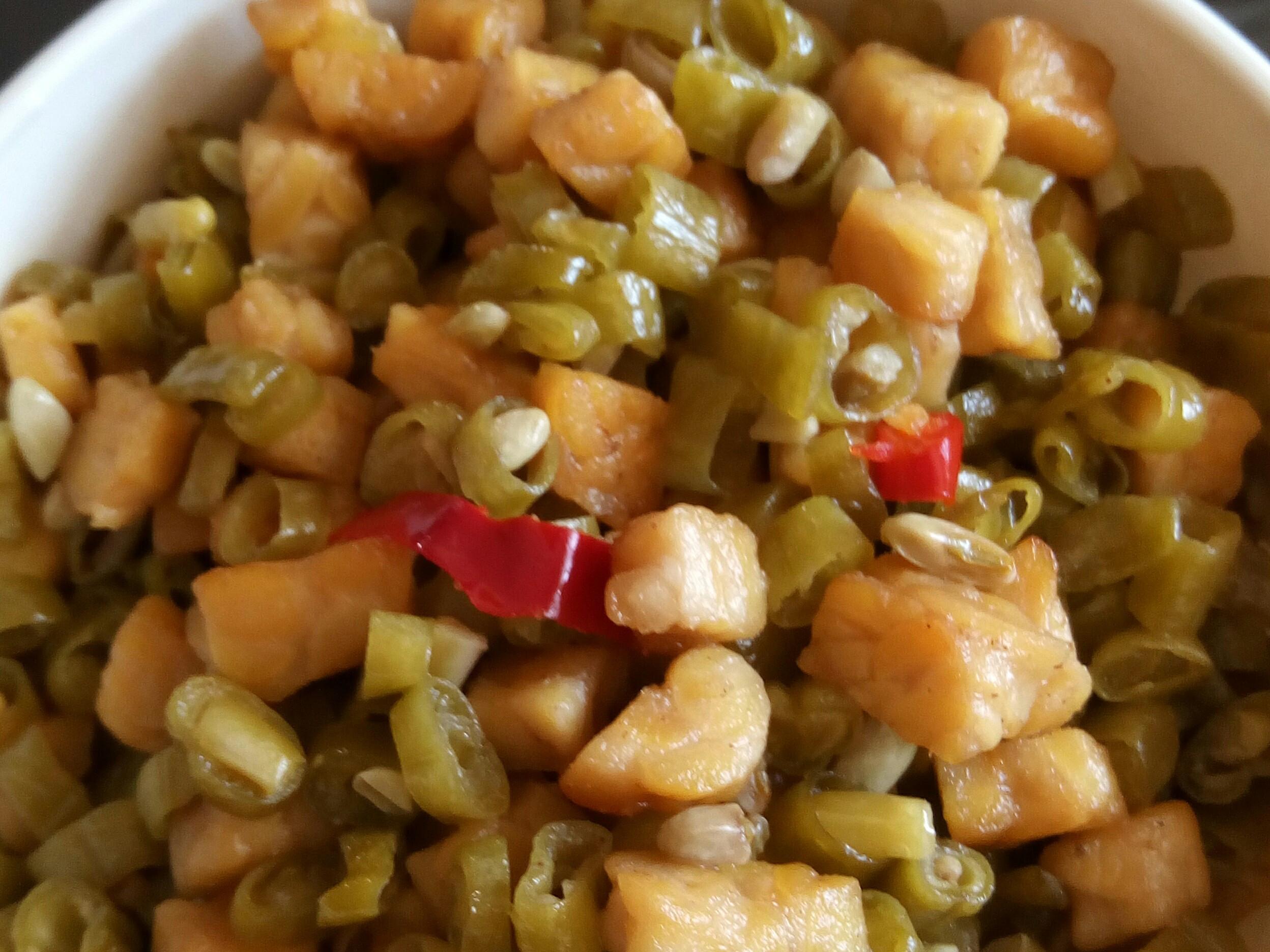 天貝炒酸豇豆