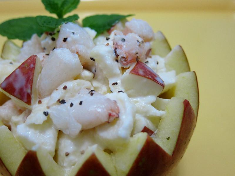 海鮮蘋果沙拉盅