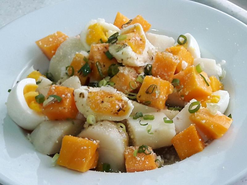 芒果雞蛋馬鈴薯起司沙拉~輕食水果沙拉早餐