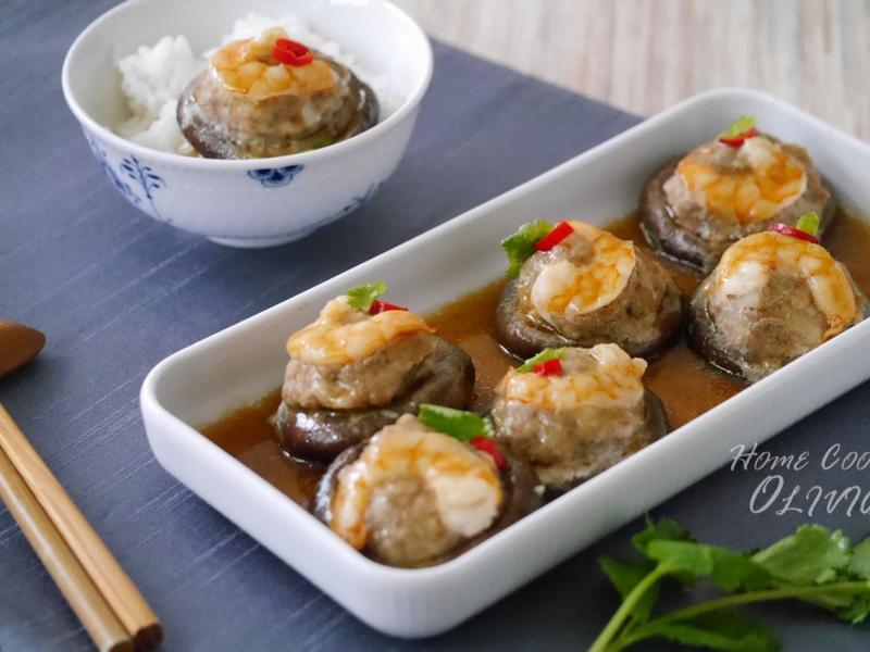 百花香菇鑲肉❤電鍋小廚娘