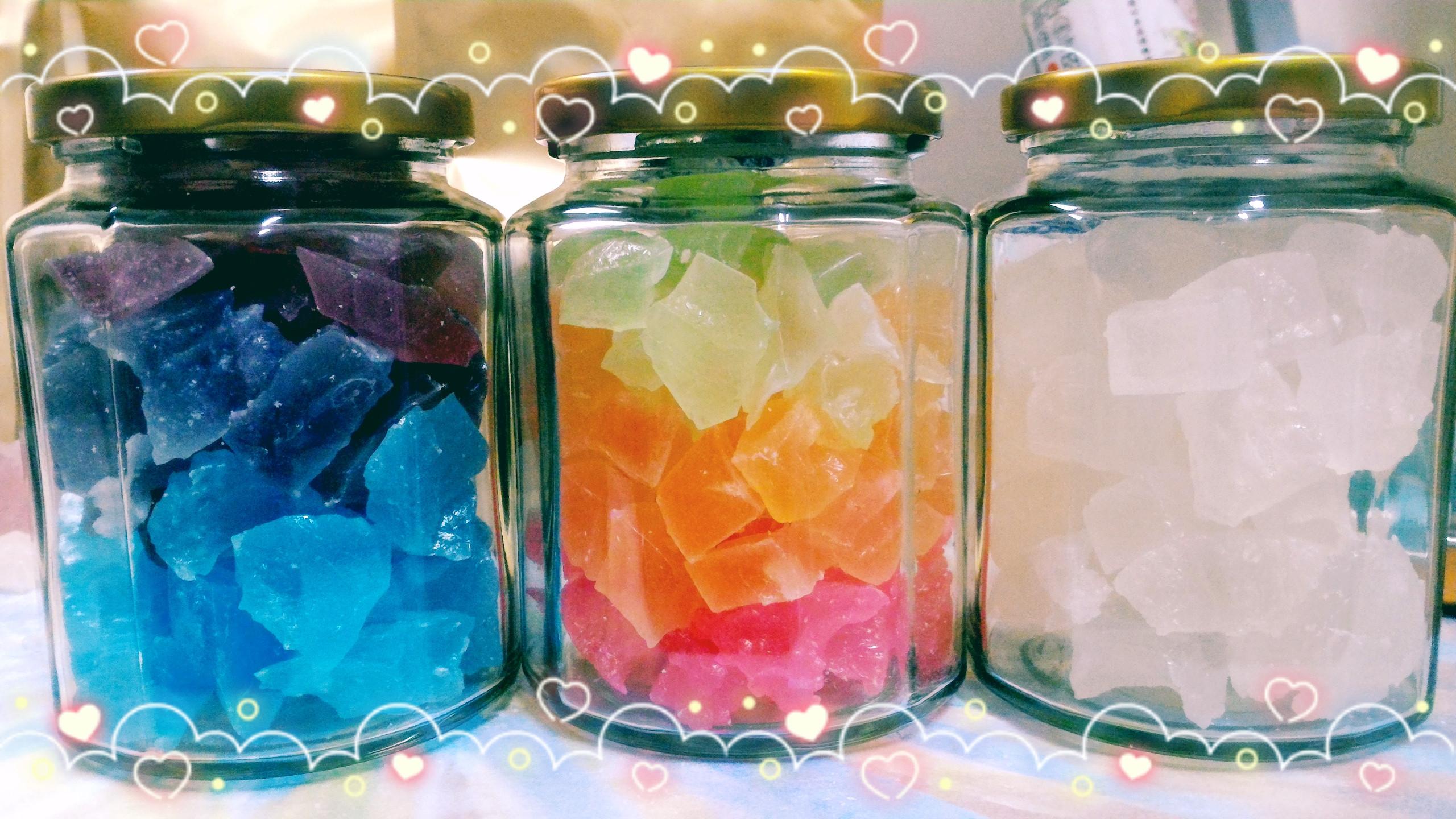 琥珀糖  彩虹 我家的琥珀糖 色素使用