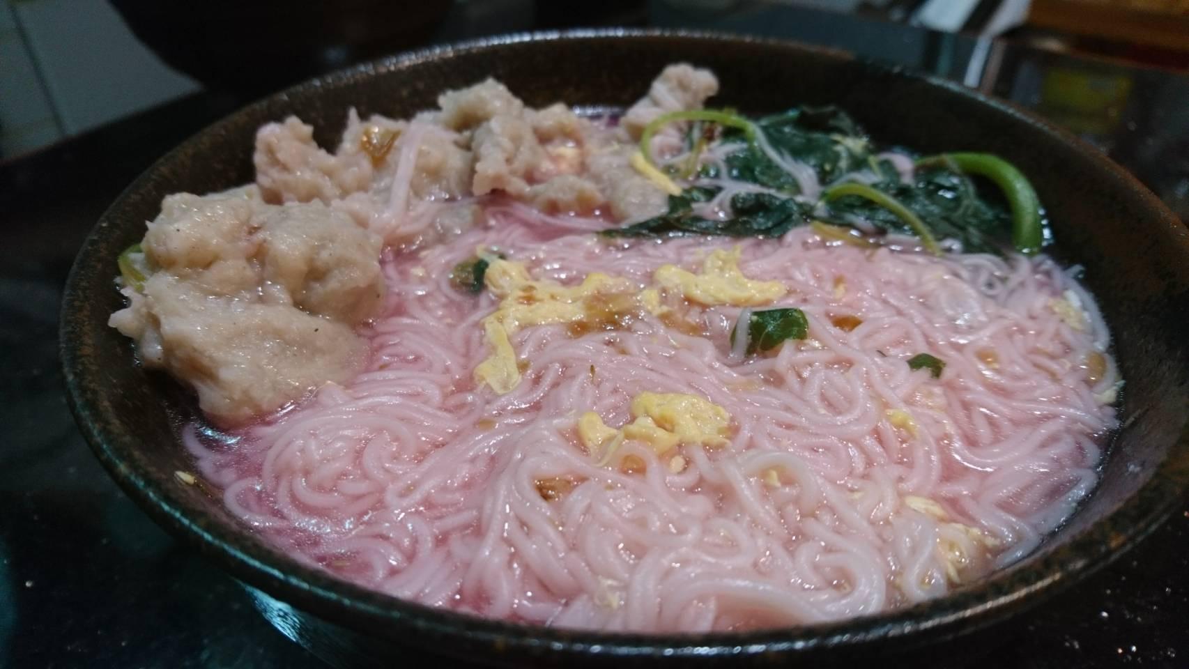 莧菜肉羹麵線