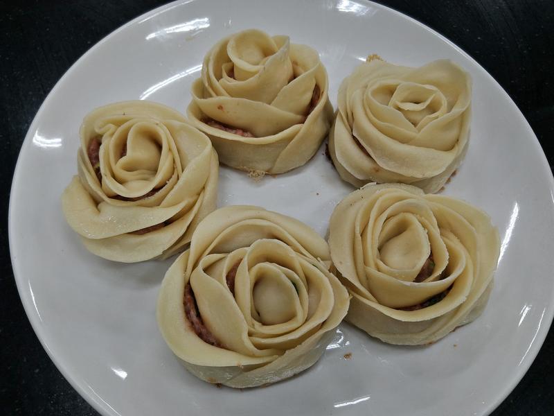 創意玫瑰花煎餃