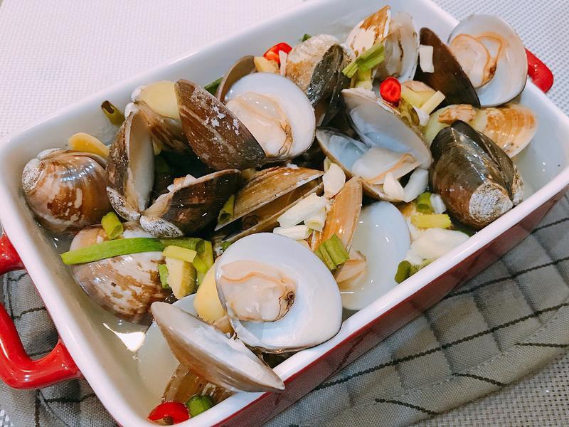 酒蒸蛤蜊(懶人烤箱料理)