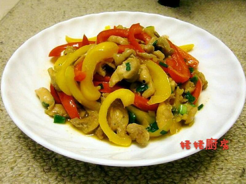 甜椒炒雞柳