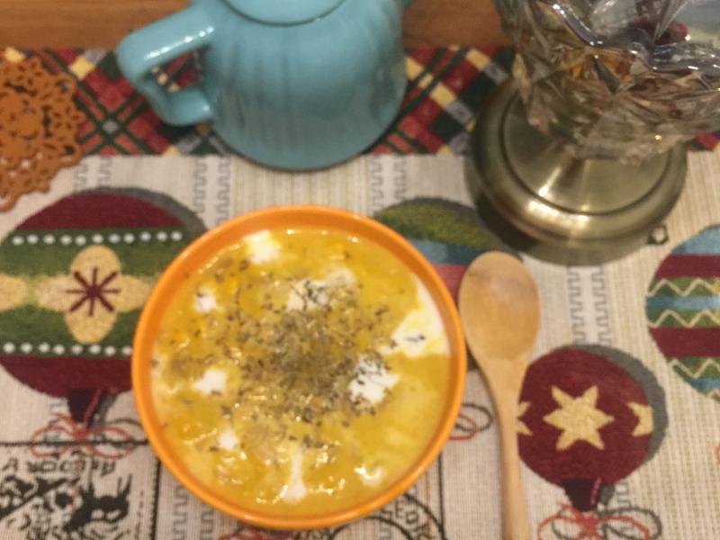 10分鐘🎃法式迷迭香南瓜玉米濃湯
