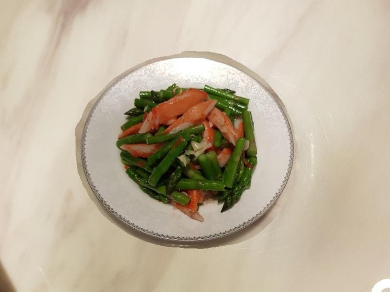 蘆筍炒蟹肉