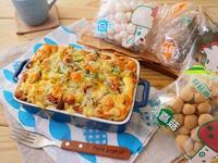 鮮菇堅果麵包布丁【好菇道親子食光】