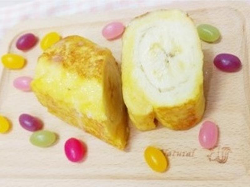 香蕉牛奶土司卷