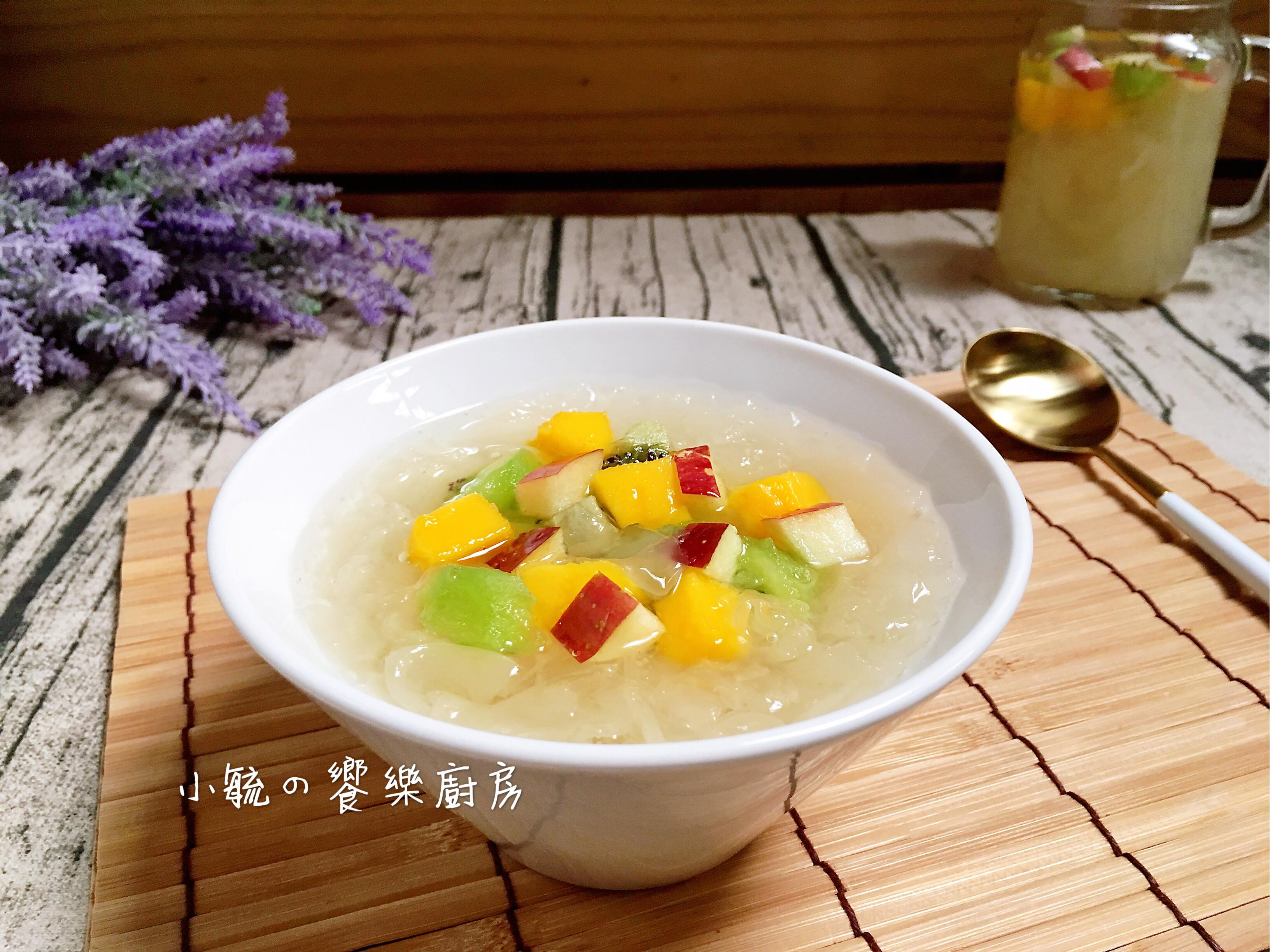 🥝鮮果白木耳甜湯🍎電鍋版