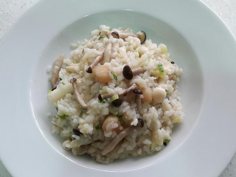 雙菇干貝燉飯~一鍋到底無油輕鬆煮