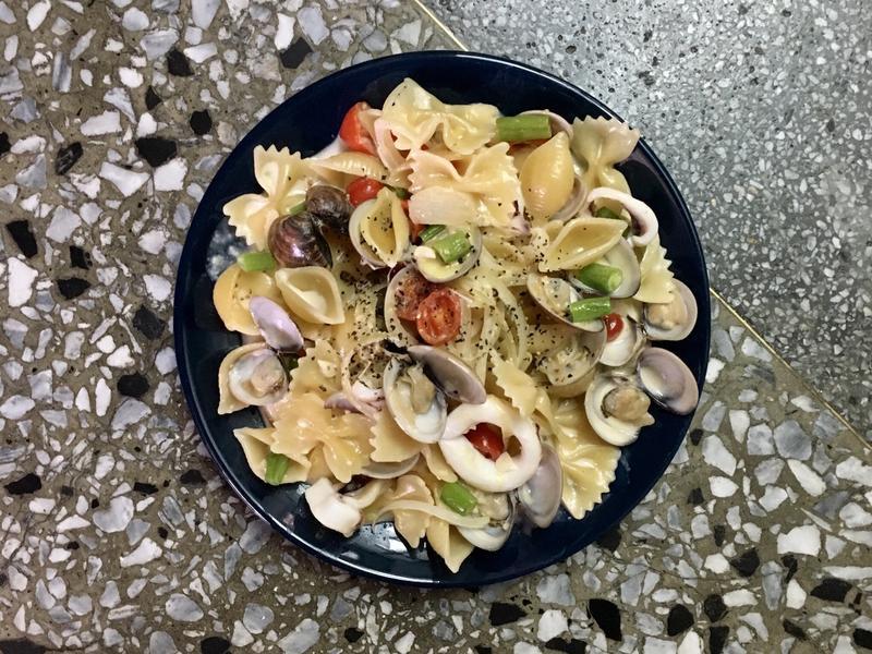簡易白醬海鮮義大利麵(簡易)