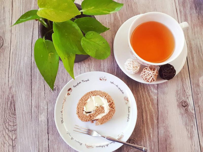 蜜桃紅茶蛋糕捲