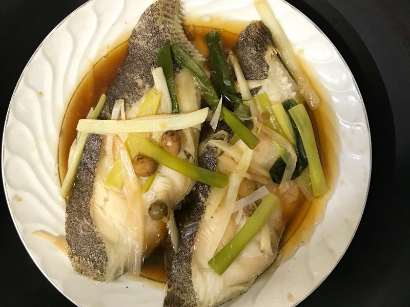 清蒸鱈魚(大比目魚)