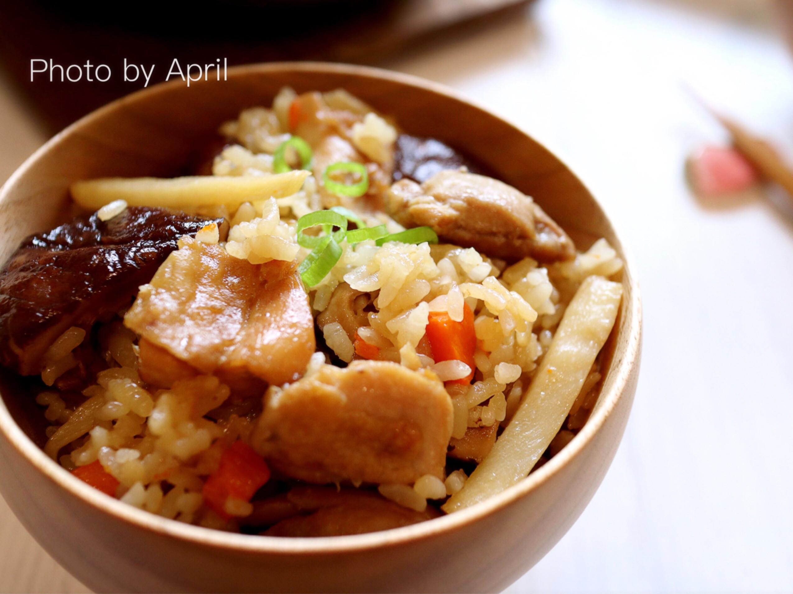 竹筍香菇雞肉燜飯 電子鍋輕鬆煮