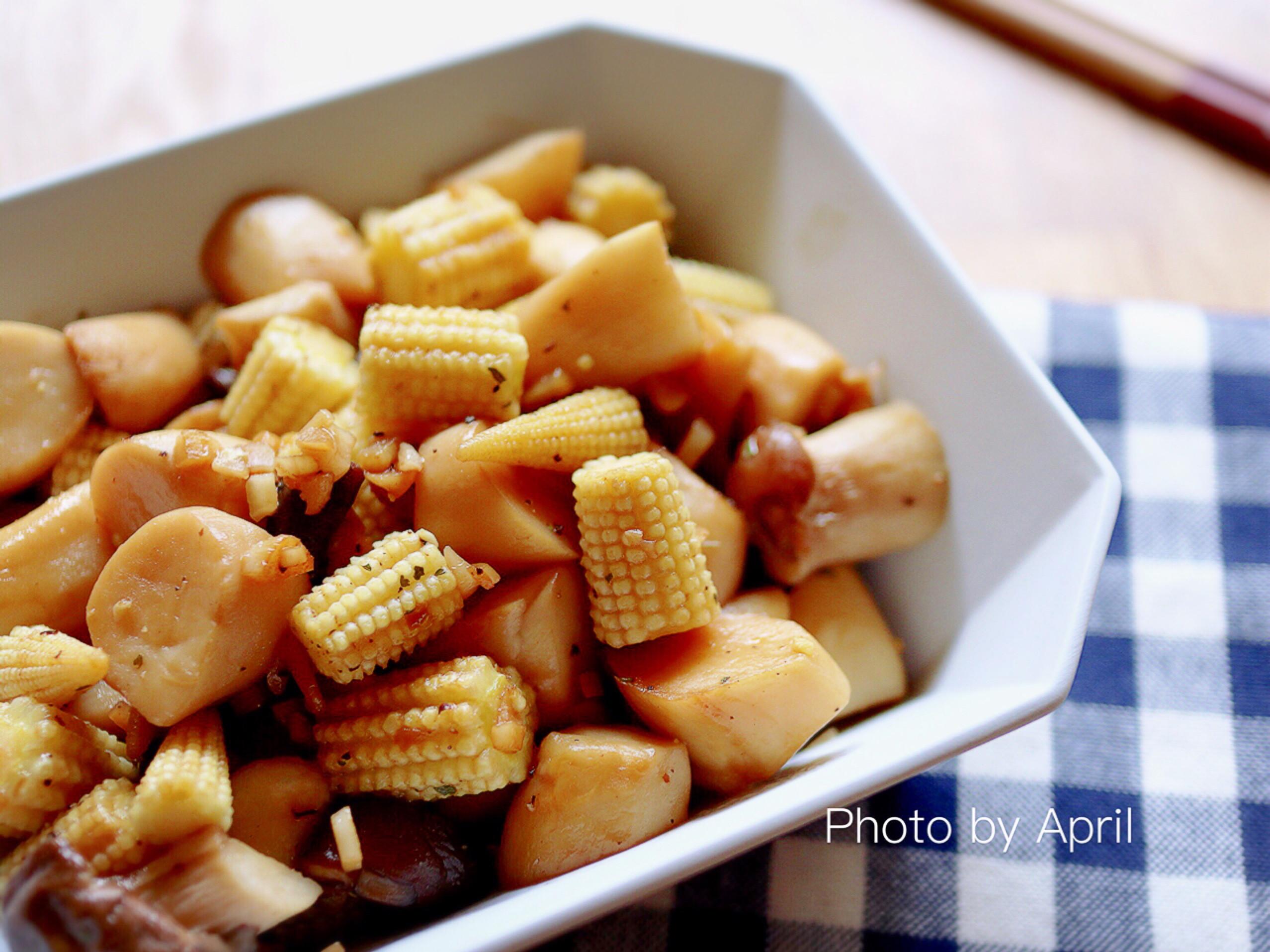 醬燒奶油杏鮑菇玉米筍