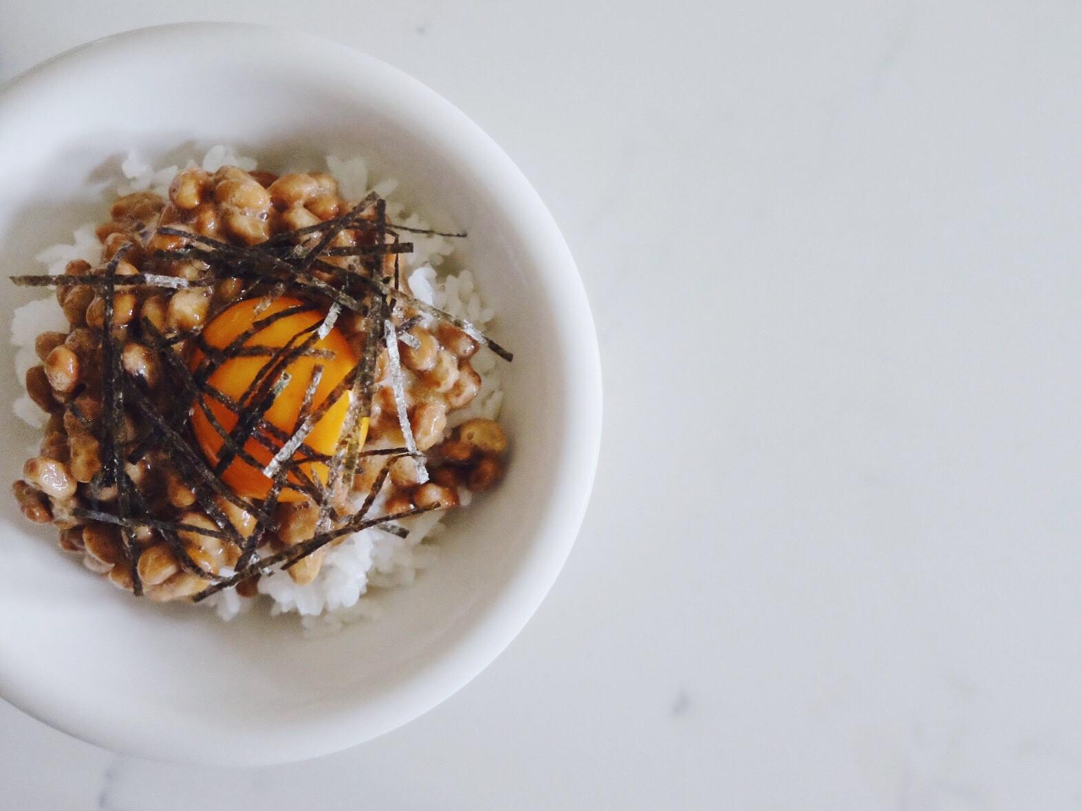 營養素早午餐 - 納豆飯