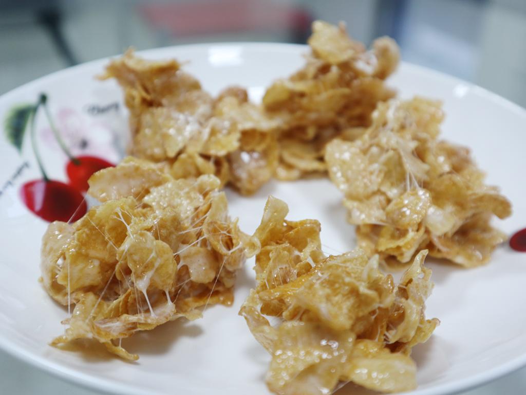 高熱量注意!廚藝新手也會做的棉花糖玉米片