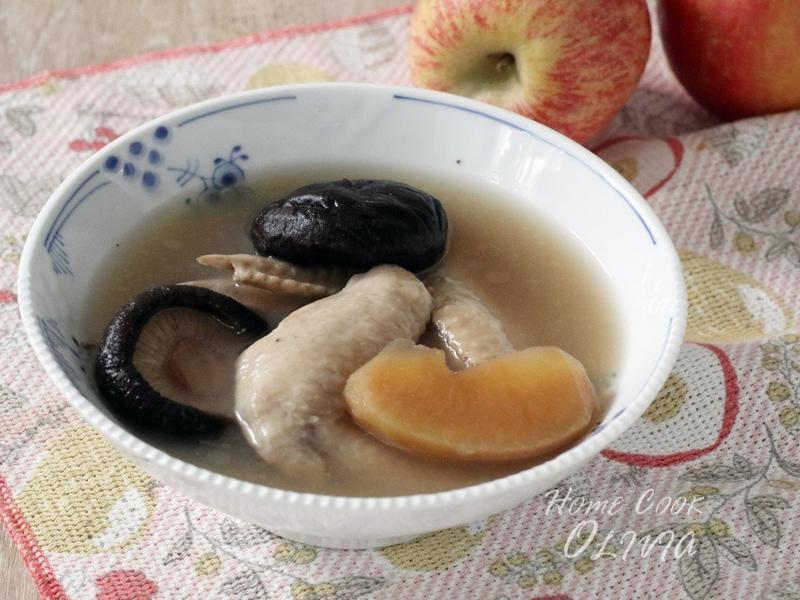 蘋果香菇雞湯♡電鍋小廚娘