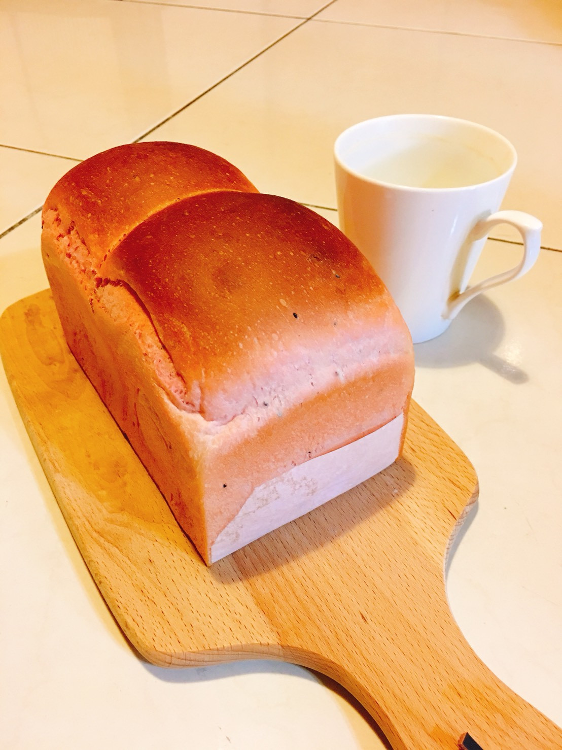 粉紅雙果土司(5度C冷藏冰種)(麵包機)