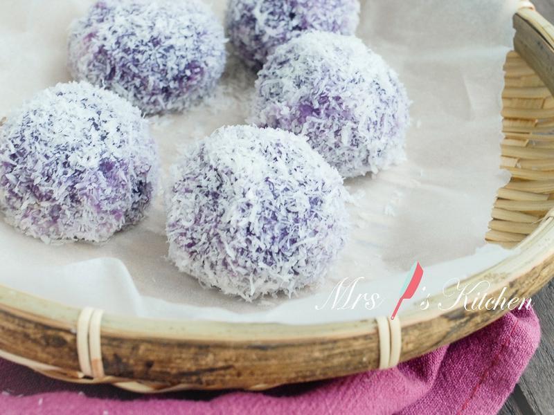 紫地瓜流心糯米糍