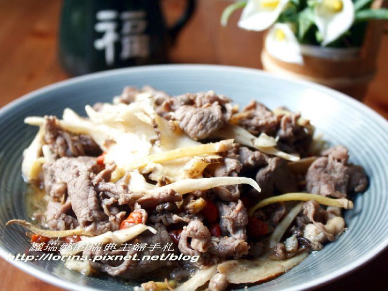 養身補氣料理~當歸薑絲炒羊肉