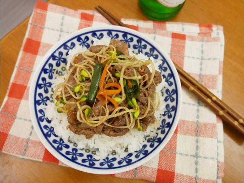 五分鐘「韓式烤肉飯」❤
