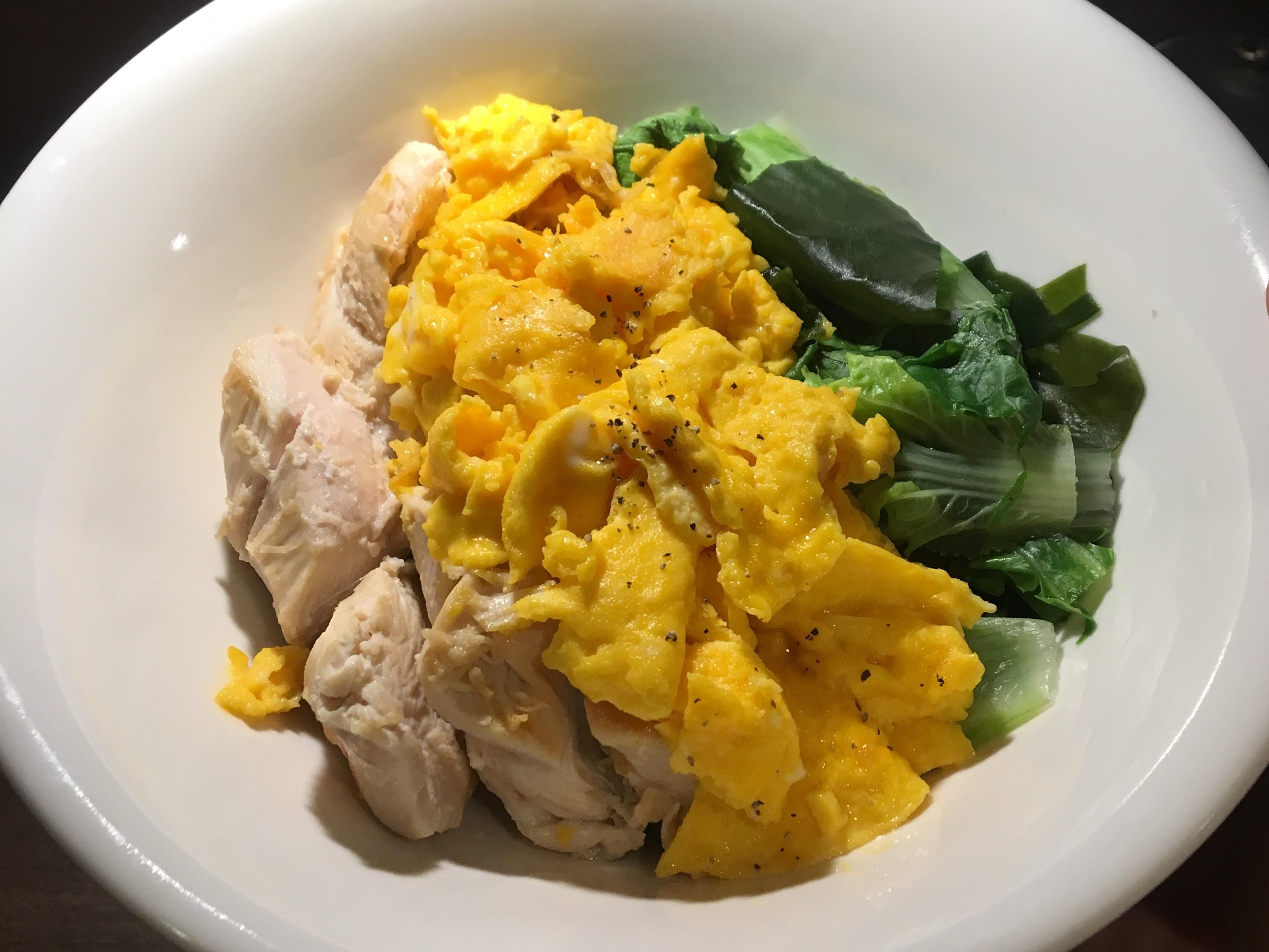 [減脂餐]炒蛋•雞胸•燙青菜