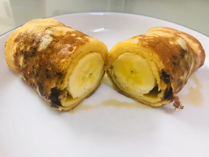 萬能玉子燒皿系列:巧克力香蕉捲