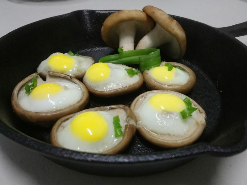 鮮菇鳥蛋燒(蛋素)