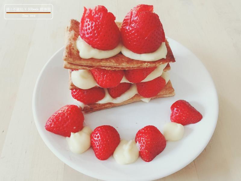 好吃又簡單的草莓千層派 (影片)