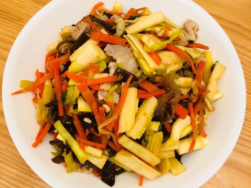 三絲韭黃炒豬肉