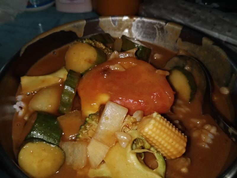 蔬菜咖哩飯(電鍋)
