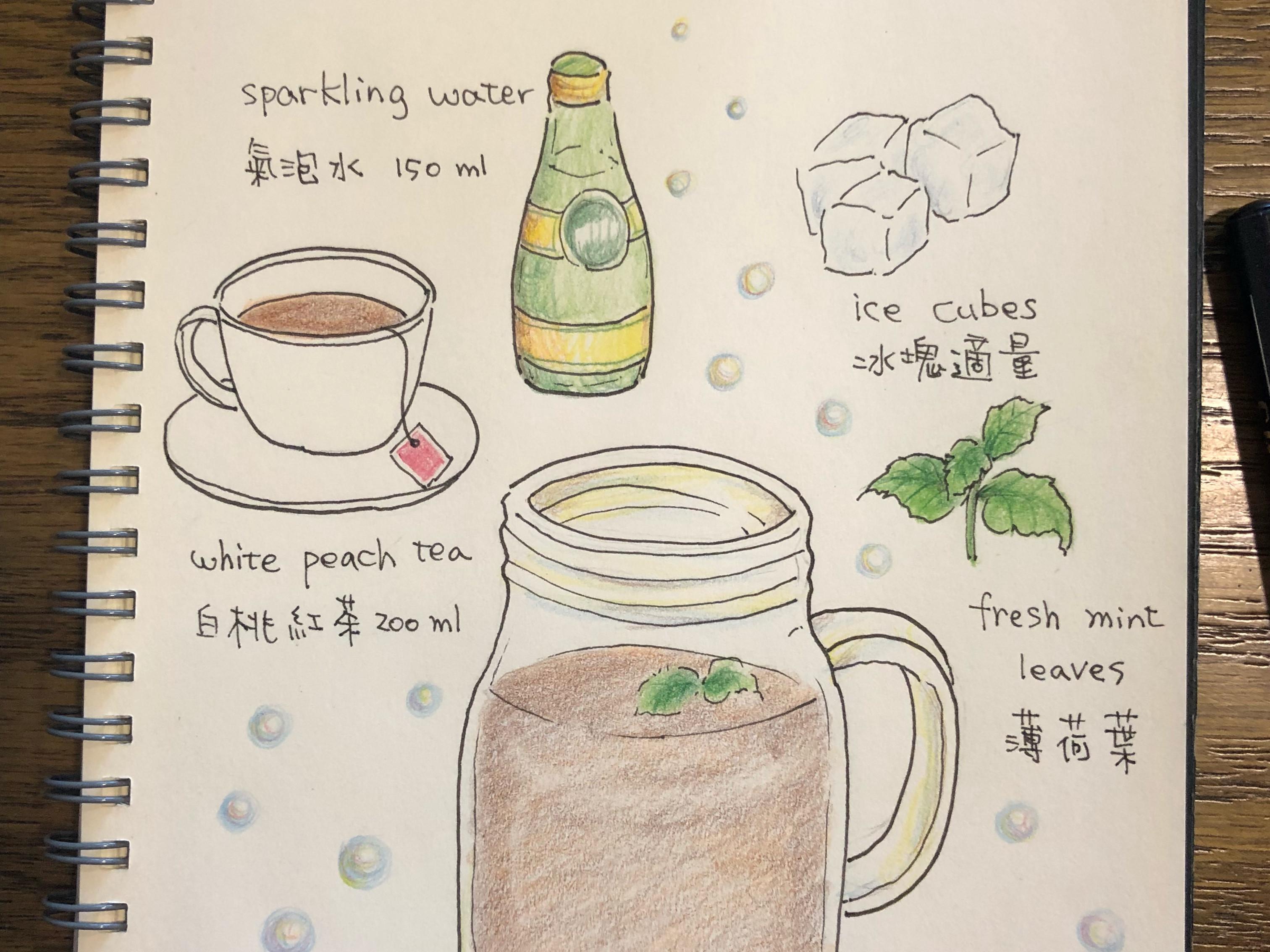 風味氣泡冰茶