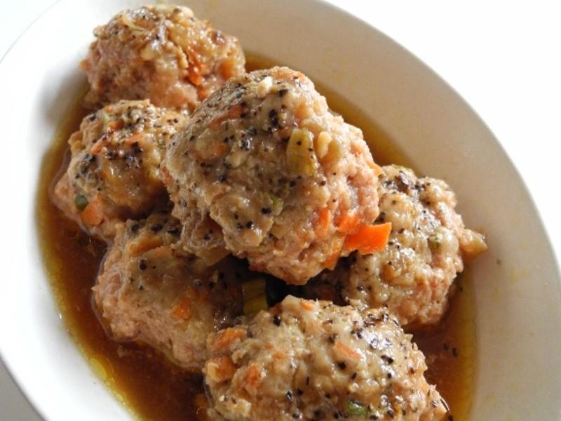 蒸豆腐醬瓜肉丸子