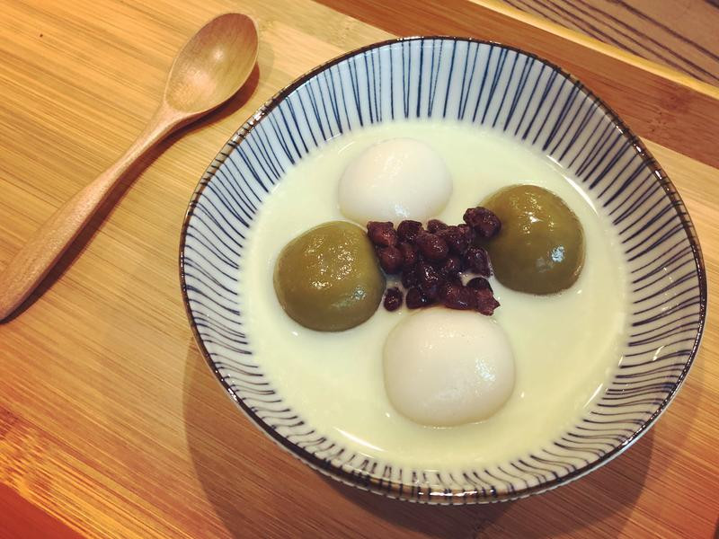 抹茶紅豆糰子
