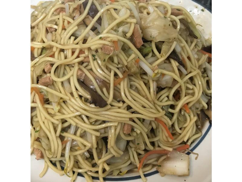 「素食」時蔬炒麵